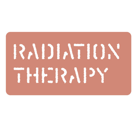 radiation sign on white background Sign, label, sticker