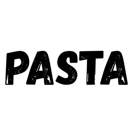 pasta label on white background Sign, label, sticker