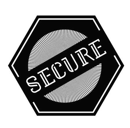Secure stamp on white