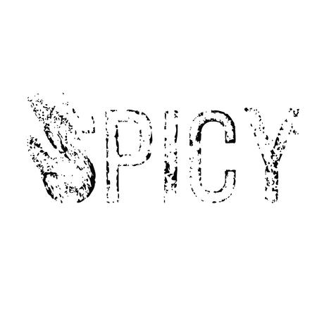 spicy stamp on white background Sign, label, sticker