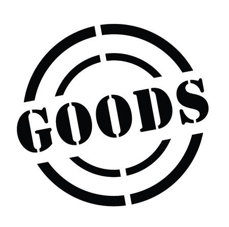 Goods stamp on white
