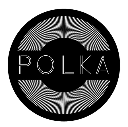 polka label on white background Sign, label, sticker