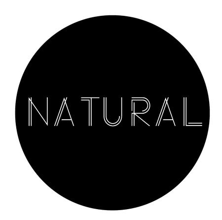 natural label on white background Sign, label, sticker Illustration
