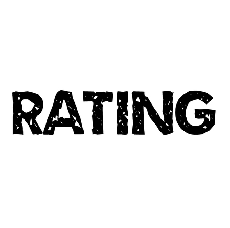 rating stamp on white background Sign, label, sticker