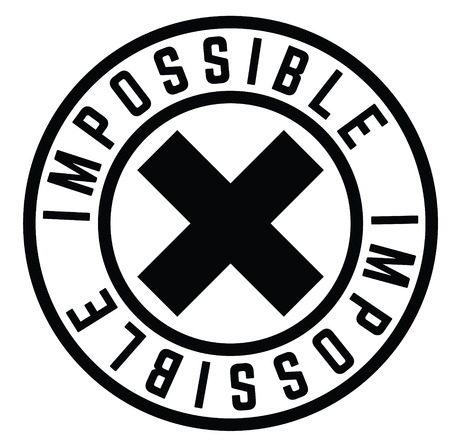 impossible stamp on white Ilustrace
