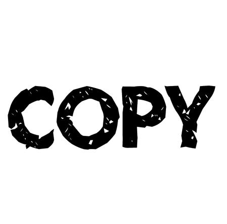Copy stamp on white background Sign, label, sticker