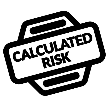 Calculated Risk black stamp on white background