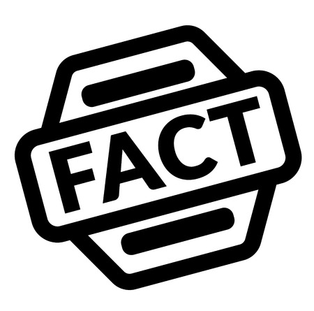 fact black stamp on white background Banque d'images - 111912132