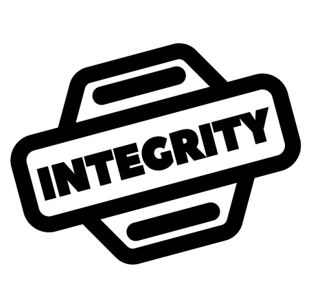 integrity black stamp on white background