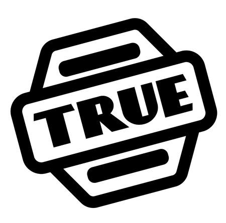 true black stamp on white background