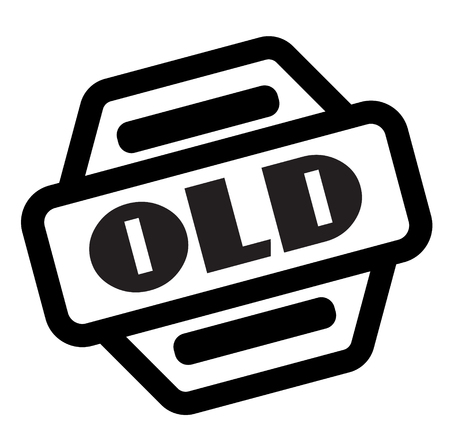 old black stamp on white background