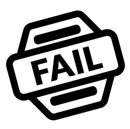 fail black stamp on white background Ilustração