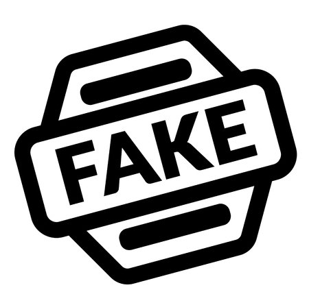 fake black stamp on white background Illustration