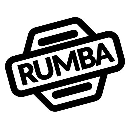 rumba black stamp on white background