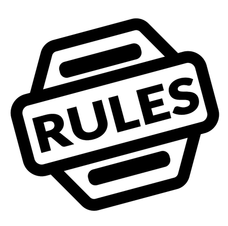 rules black stamp on white background