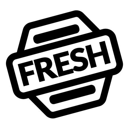 fresh black stamp on white background