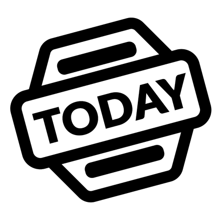 today black stamp on white background Illustration