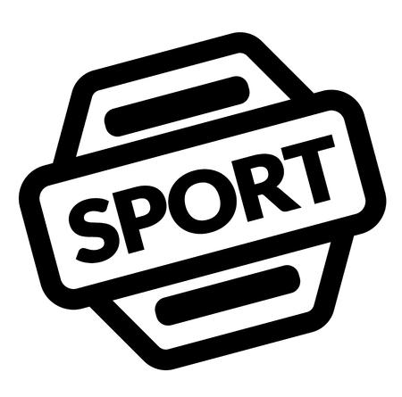 sello deportivo negro sobre fondo blanco