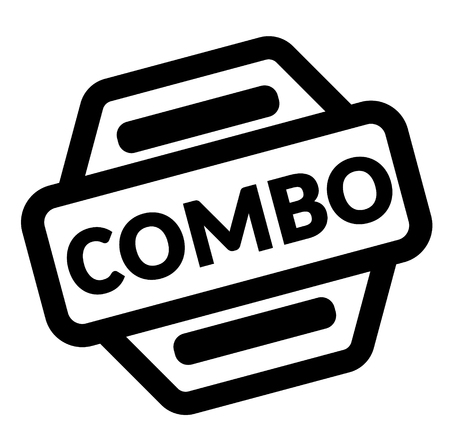 combo black stamp on white background  イラスト・ベクター素材