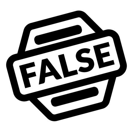 false black stamp on white background
