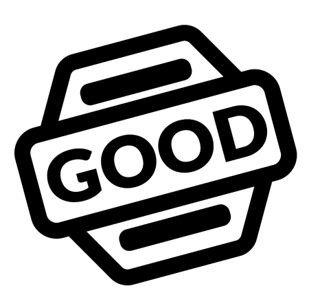good black stamp on white background Stock Illustratie