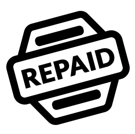repaid black stamp on white background Ilustração