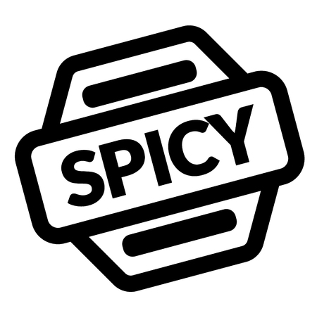 spicy black stamp on white background Illustration