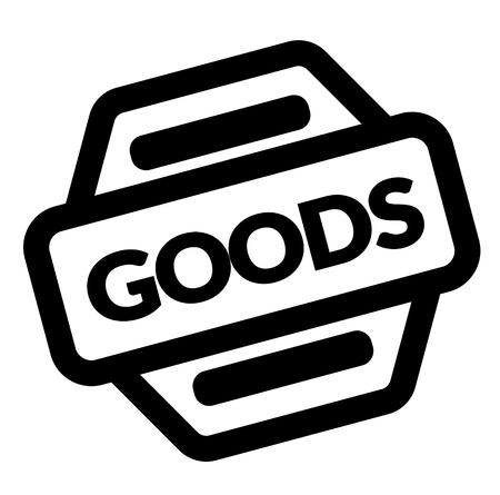 goods black stamp on white background