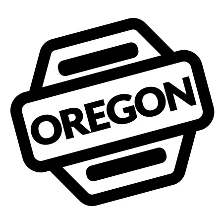 oregon black stamp on white background