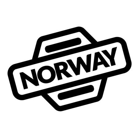 norway black stamp on white background