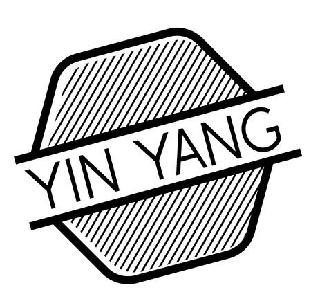 ying yang black stamp on white background. Sign, label, sticker