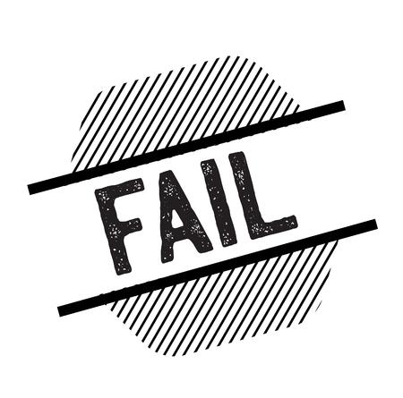 fail black stamp Ilustração