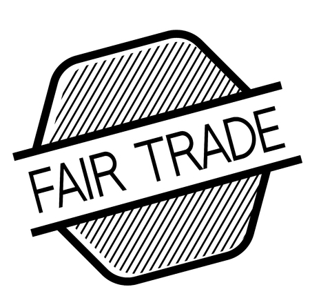 fair trade black stamp on white background. Sign, label, sticker