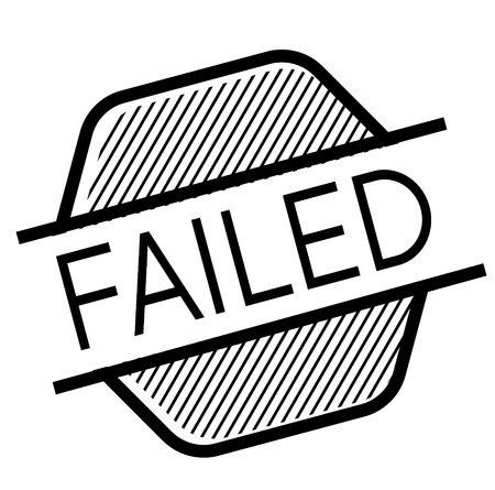 failed black stamp on white background. Sign, label, sticker Illustration