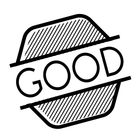 good black stamp on white background. Sign, label, sticker