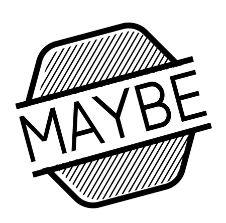 maybe black stamp on white background. Sign, label, sticker Illustration