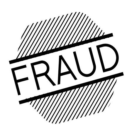 fraud black stamp