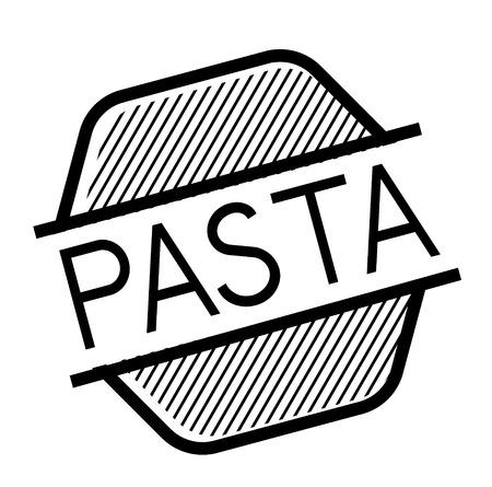 pasta black stamp on white background. Sign, label, sticker Ilustrace