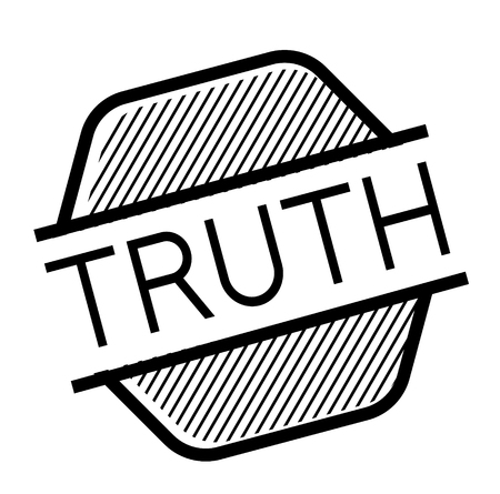 truth black stamp on white background. Sign, label, sticker