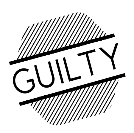 guilty black stamp on white background. Sign, label, sticker