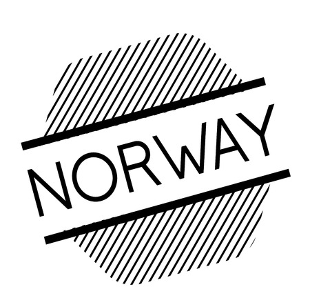 norway black stamp Illustration