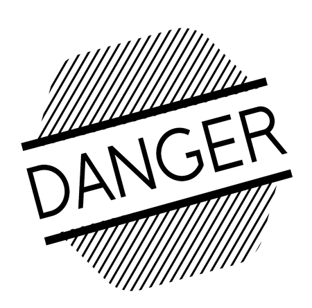 danger black stamp