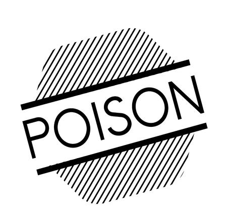 poison black stamp Illustration