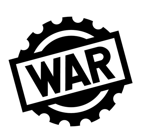 war black stamp on white background. Sign, label, sticker Illustration