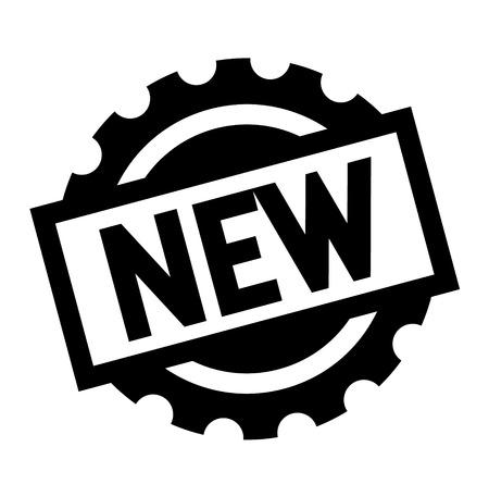 new black stamp on white background. Sign, label, sticker
