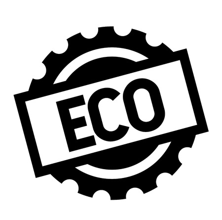 eco black stamp on white background. Sign, label, sticker