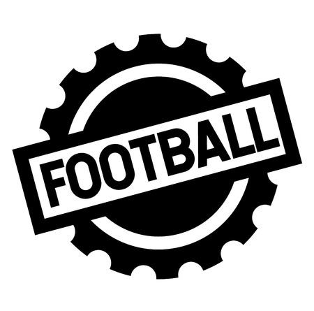 football black stamp on white background. Sign, label, sticker