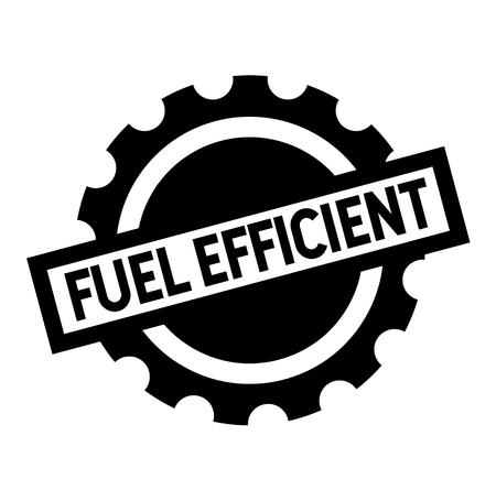 fuel efficient black stamp on white background. Sign, label, sticker