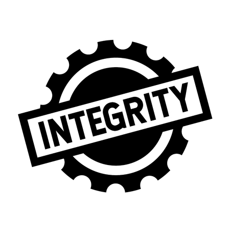 integrity black stamp on white background. Sign, label, sticker Ilustração