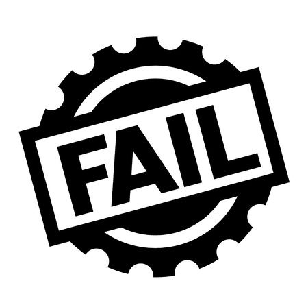 fail black stamp on white background. Sign, label, sticker Imagens - 111912479
